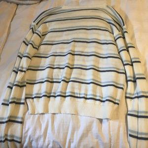 White Striped Brandy Melville Sweater